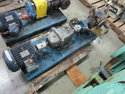 Viking Pump Kk4224b-10 5hp Motor 100gpm 200psi W Nord Sk 42 W Reducer Used