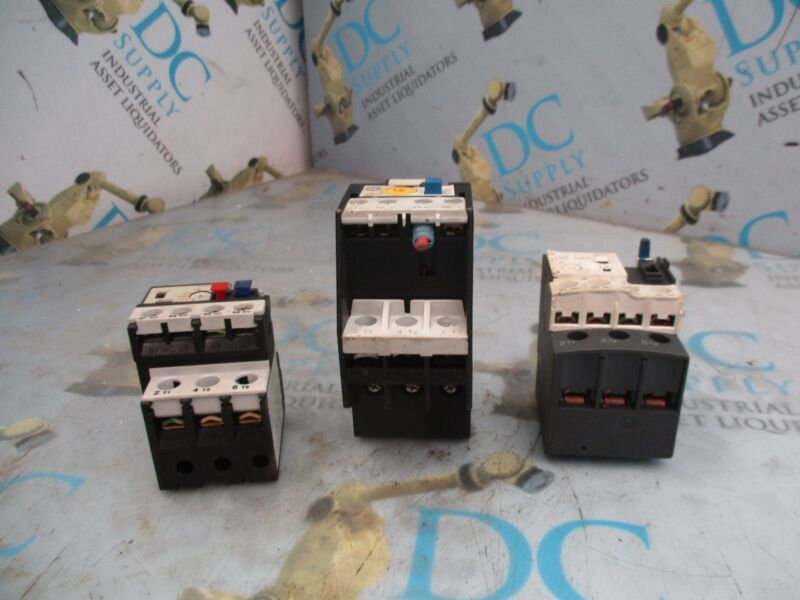GENERAL ELECTRIC RTM1L  4-6.3 A 600 V & MISC THERMAL OVERLOAD RELAYS LOT OF 3