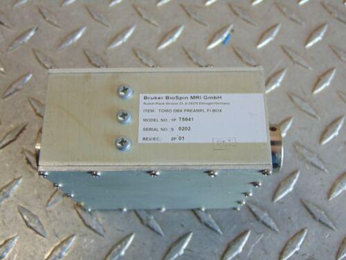 BRUKER BIOSPIN MRI T5841 TOMO DBX PREAMPL FI-BOX