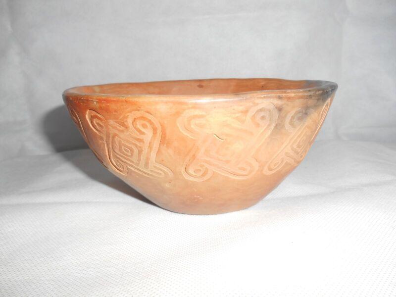 Southwest Art Pottery Bowl sign JAW