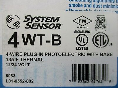 New System Sensor 4wt-b - 4-wire Photo Thermal Detector