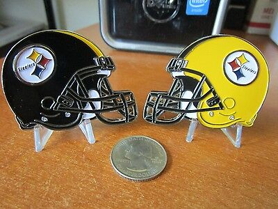 (Pittsburgh Steelers NFL Football Team / Throwback Helmet Challenge Coin )