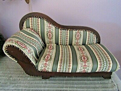 >>> MARKED DOWN >>> VINTAGE SALESMAN SAMPLE >>> CHAISE LOUNGE DOG SOFA COUCH