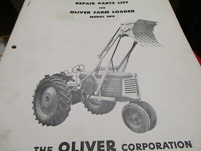 Oliver Hf9 Loader Parts List Manual