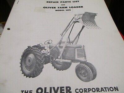Oliver Hf9 Loader Parts List Manual