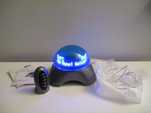 Discovery OIympia InfoGlobe Floating Message Dome Clock Calendar Caller ID