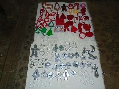 Cookie Cutter Lot-Plastic-Metal-Copper-Christmas-Halloween-Holiday-Mothers Day