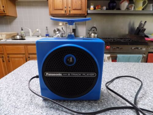 "Panasonic RQ-830S Dynamite TNT Plunger 8 Track Player ""BLUE"" works"