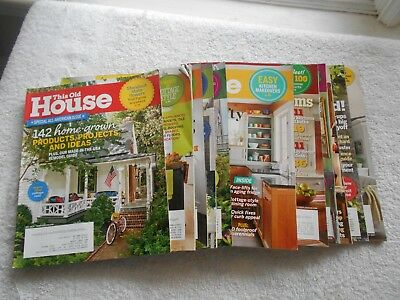 This Old House  Magazine Lot Of 12 Magazines  Jul 2014 5 2017