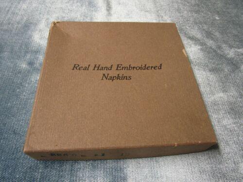 MADEIRA Style Vintage Cocktail Napkins Original Box Unused FREE SHIPPING