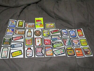 Lot of 33 Vintage Topps Wacky Packages Stickers Mixed Lot