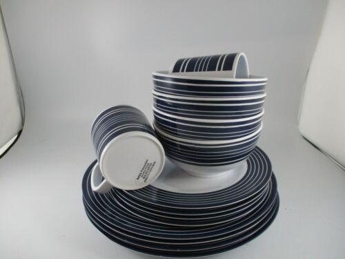 MELAMINE PICNIC/TABVLEWARE PLATES, BOWLS & MUGS 14 PIECES NAVE/WHITE