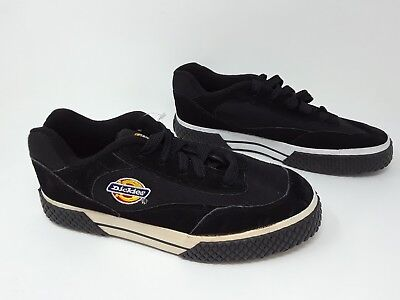 New w/defects!! Men's Dickies Skater Shoes Vulcan # C4025 Black and White -