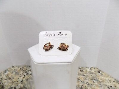 1993 Copper Earrings (Joseph Brinton for Jody Coyote/Coyote Rose) Cup & Saucer