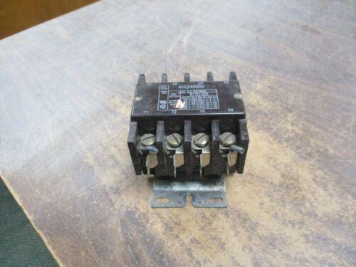 Arrow Hart Contactor ACC340U20 110-120V Coil 40A 600V Used