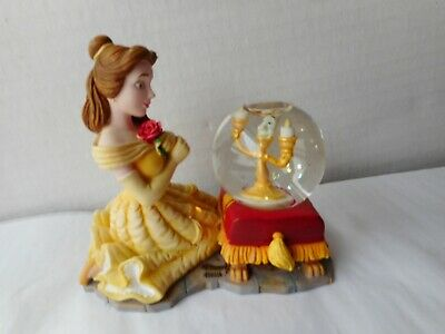 Disney Store Beauty & the Beast Lumiere Winter Holiday Mini Snow Water Globe
