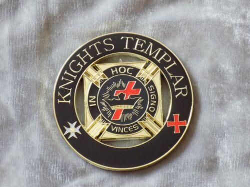 "Masonic 3"" Car Emblem York Rites Knights Templar Crown Cross Metal NEW!"
