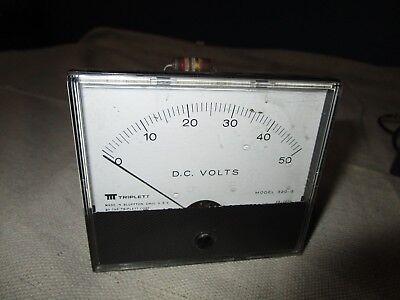 Triplett Panel Meter 320g 320-g 0-50 Volts Dc