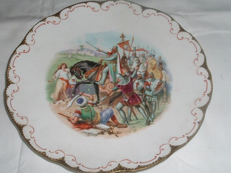 Antique 1905 Plate Mountain Commandery Knights Templar Plate Altoona PA