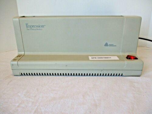 Avery Dennison 1st Impression Model No. 240 Thermal Desktop Book Binder !!