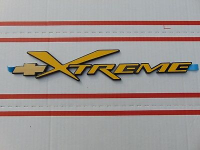 BRAND NEW S10 XTREME BLAZER DOOR TAILGATE XTREME EMBLEM YELLOW COLOR