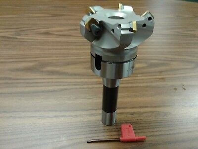 3 45 Degree Indexable Face Shell Mill W. R8 Arborface Milling Cutter-new