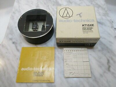 Used, AUDIO TECHNICA AT15XE CARTRIDGE & GENUINE AUDIO TECHNICA ATN-15XE STYLUS - CASE for sale  Shipping to India