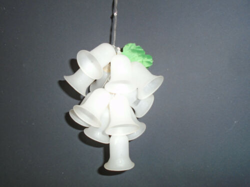 Vintage Fluted Glass Bell Cluster Christmas Ornament Frosted White