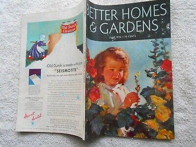 BETTER HOMES & GARDENS Magazine-JUNE,1934-PHILIP LYFORD COVER (Best Covering Interior Paint)
