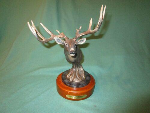 Hardwood Legend Virginianus White Tailed Deer Sculpture Big Sky Carvers