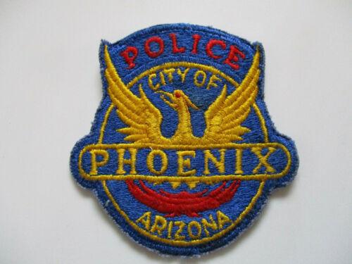 vintage 1970s Phoenix AZ Arizona Older Cut Edge USA Machine Made Police Patch