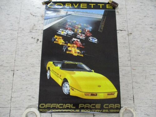 1986 Chevy Pace Car Indianapolis Poster - Franchised GM Dealer Item
