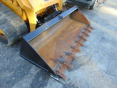 78 Genuine Cat Brand Tooth Bucket For Skid Steer Loader - Ships For Free