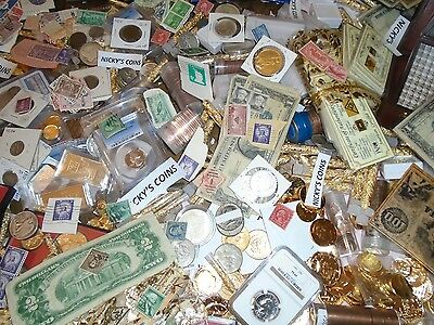 ESTATE OLD US COIN LOT*GOLD SILVER*.999 BULLION HOARD STAMPS PCGS PROOF  SALE