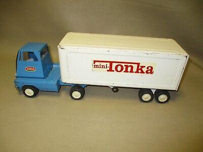 Gebruikt, Vintage Mini Tractor Trailer Tonka Pressed Steel Truck. tweedehands  verschepen naar Netherlands