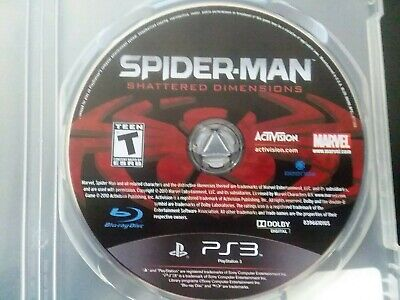 Spider-Man:Shattered Dimensions(Sony PS3, 2010) MINT Disc No Cover Art or Manual