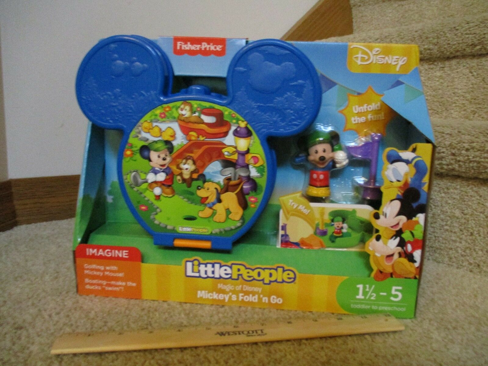 Fisher Price Little People Disney Mickey Mouse Magic Fold Go