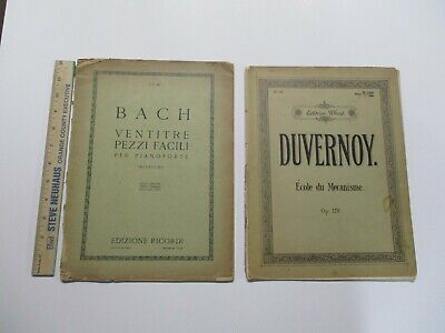 Bach Duvernoy Antique Piano Music Books  ()
