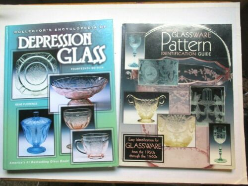 Set 2 Florence Depression Glass Books Encyclopedia  Pattern Identification Guide