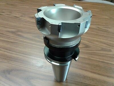 5 90 Degree Indexable Face Shell Millface Milling Cutter Apkt W. Cat50 Arbor