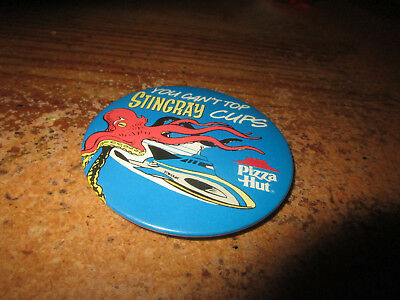 C. 1980's Stingray TV Show Pizza Hut Advertising Pinback Button 3""