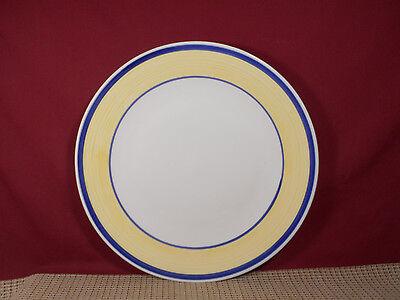 Gibson China Tavernware Yellow Pattern Round Platter Chop Plate 12 3/8