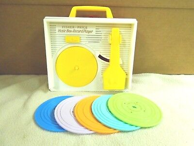 FISHER  PRICE  MUSIC  BOX  AND  RECORD  PLAYER