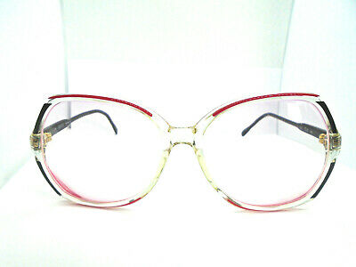 Gucci GG 2102 49E Red/Black/Clear 57-17-140 Vintage Eyeglasses Frames Italy