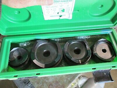 Greenlee 7304 Knockout Punch Set 2 12 3 3 12 4 Knockout Punches