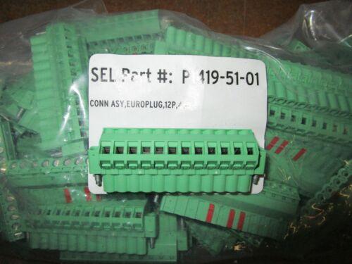 SCHWEITZER SEL-P1419-51-01 TERMINAL BLOCK