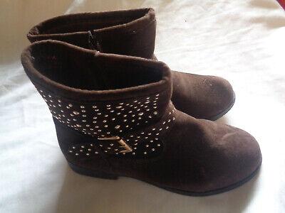 Girls Cowboy Western Boots - Yokids - Size 2 - Brown