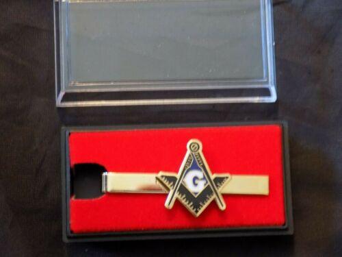 Master Mason Gold Color Tie Bar Necktie Freemason Masonic Square Compass NEW!