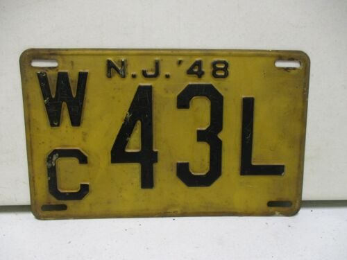 1948 New Jersey License Plate