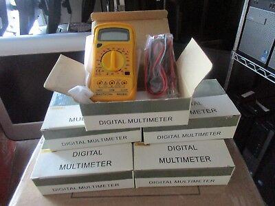 Lot Of 7 Mastech Mas830 Digital Multimeters